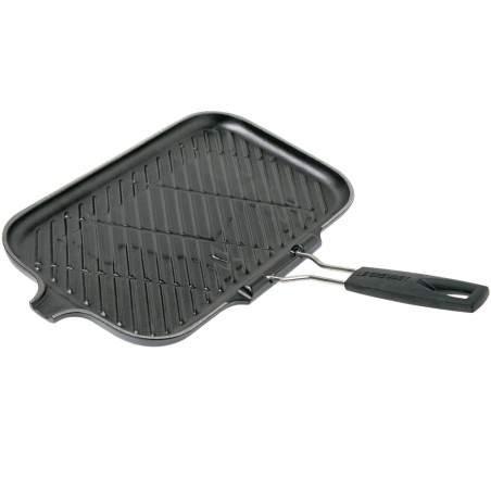 Grill Le Creuset Rectangulaire Noir 36 cm avec poignée repliable