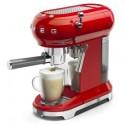 Machine à café espresso rouge Smeg année 50 ECF01RDEU
