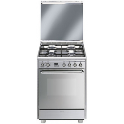Cuisinière mixte Gaz et électrique SMEG SCB60MX9 inox