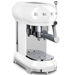 Machine à café Expresso Smeg ECF01WHEU Blanc Années 50