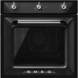 Four Multifonctions SMEG SF6905N1 Noir Années 50 Victoria