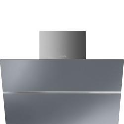 Hotte décorative inclinée SMEG KCV80SE2 80cm Argent