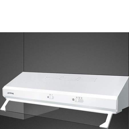 Hotte traditionnelle SMEG KSEC61BE2 Blanche 60cm visière