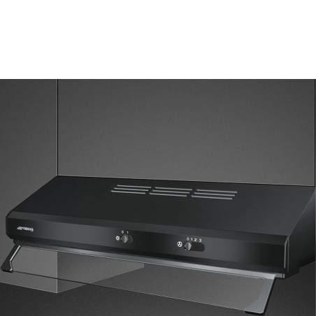 Hotte traditionnelle SMEG KSEC61NE2 Noire 60cm