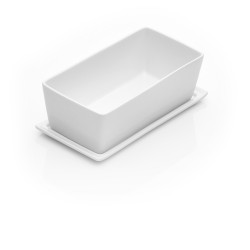 Terrine1L en porcelaine + plateau couvercle Dejelin 829100