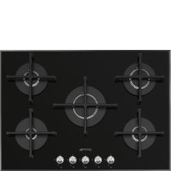 Taque au gaz SMEG PV175N2 Verre Noir 70/75 cm Maestro