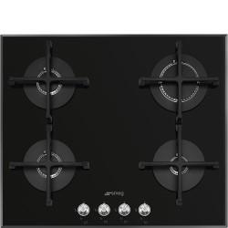 Table de cuisson Gaz SMEG PV164N2 Verre Noir
