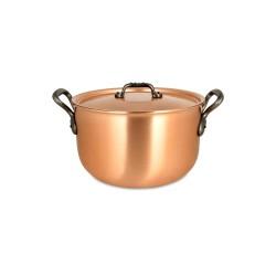 Pot- au-Feu Falk en cuivre diam 24 cm avec couvercle