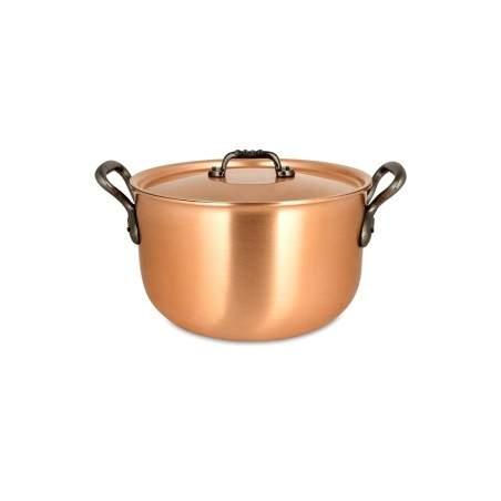 Pot- au-Feu Falk en cuivre diam 24cm avec couvercle