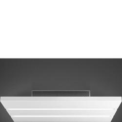 Hotte plafond SMEG KSCF90B 90cm Blanc à recyclage