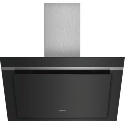 Hotte Siemens décorative murale headFree LC87KHM60 verre noir