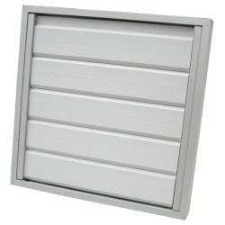 Grille d'évacuation façade Aluminium anodisé 210x210mm 9776-0900