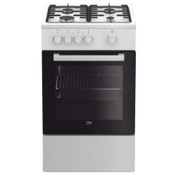 Cuisinière au gaz et four gaz BEKO FSG52020DW Blanc Largeur 50 cm