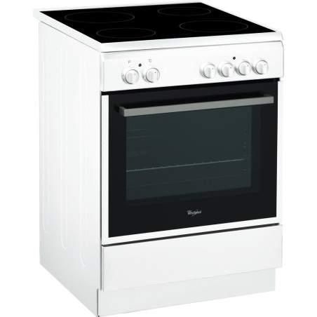 Cuisinière électrique vitrocéramique Whirlpool ACMT6533/WH Blanc