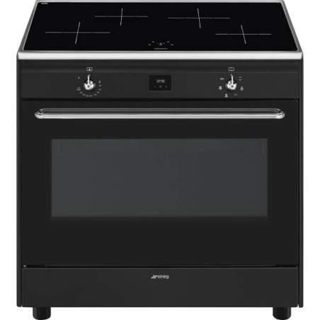 Cuisinière à induction Smeg CG90IANT9 Noir 90cm Classe A