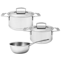 Set de casserole 3 pièces Demeyere Silver7 SET60903