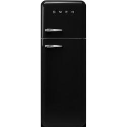 Réfrigérateur Combiné Smeg Années'50 FAB30RBL5 Noir Brillant