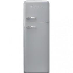 Réfrigérateur Combiné Smeg Années'50 FAB30RSV5 Gris Métallique