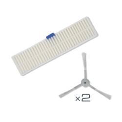2 brossettes + filtre haute efficacité Rowenta ZR740003