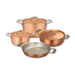 Set de casseroles en cuivre Falk Signature SET-PLUS-SIGN