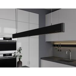 Eclairage LED Jansen - De Bont 6611-1330 - 1499 mm - 30 W Noir Ma