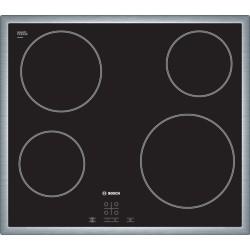 Taque vitrocéramique Bosch PKE645D17E 60cm avec cadre inox