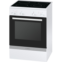 Cuisinière Vitrocéramique Bosch HCA722220 Serie 4 Blanc A