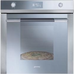 Four Smeg SF122PZE Vapor Clean, Pizza, Verre miroir + inox