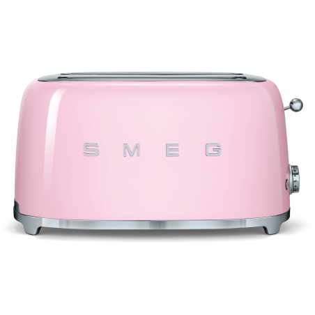 Grille-pain 4 tranches 2 fentes Smeg 50s style TSF02PKEU rose