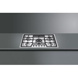 Taque de cuisson au gaz Smeg PGF75BE3 72cm semi-affleurante