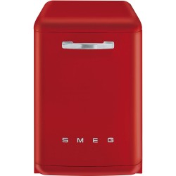 Lave-vaisselle Pose Libre SMEG Années'50 LVFABRD Rouge Vintage