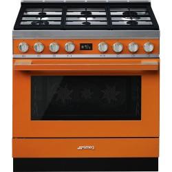 Cuisinière Smeg Portofino CPF9GMOR Orange
