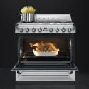 Cuisinière Mixte Gaz et électrique Smeg 90 cm TR90X9 Inox