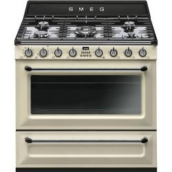 Cuisinière Mixte Gaz et électrique Smeg 90 cm TR90P9 Crème