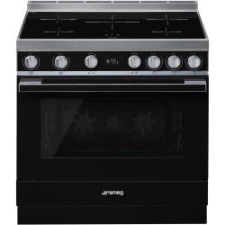 Cuisinière à induction Smeg CPF9IPBL Pyrolyse 90x60cm Noir