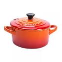 Mini Cocotte Ronde Le Creuset Volcanique/Orange