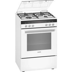Cuisinière mixte Gaz et électrique blanche Siemens HX9R30D20