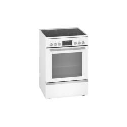 Cuisinière vitrocéramique pyrolyse Bosch blanche HKS79U220