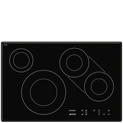 Table de cuisson induction Smeg SI3842B bord biseaute 77cm