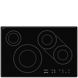 Taque de cuisson induction Smeg SI3842B bord biseaute 77cm