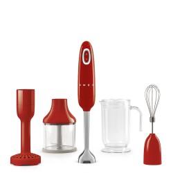 Mixeur plongeant Smeg HBF02RDEU Rouge Multifonctions