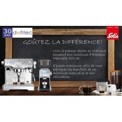 Atelier Café Barista Solis Samedi 26 Janvier 2019 de 9h30 à 12h00