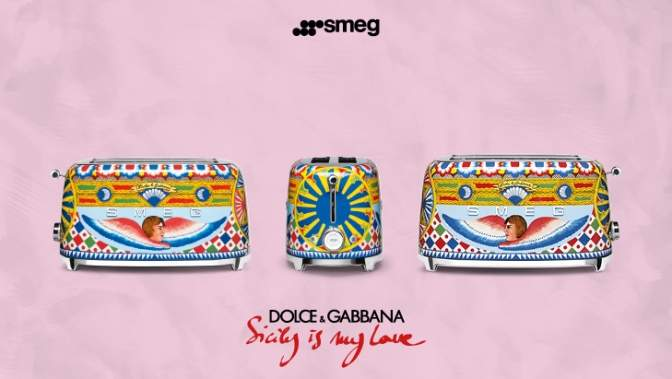 toaster design Smeg & Dolce&Gabbana - Sicily is my love