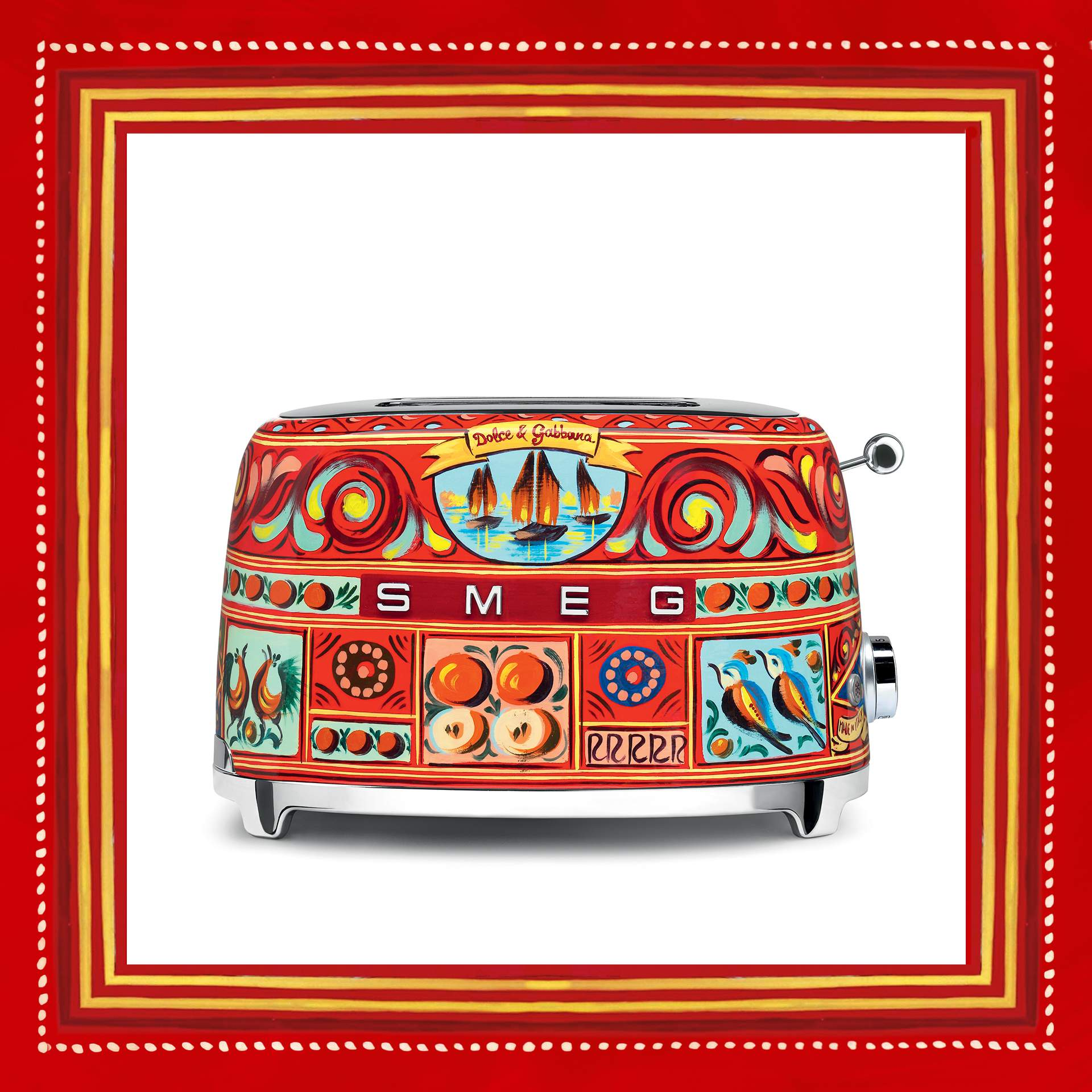 grille pain design Smeg & Dolce&Gabbana - Sicily is my love
