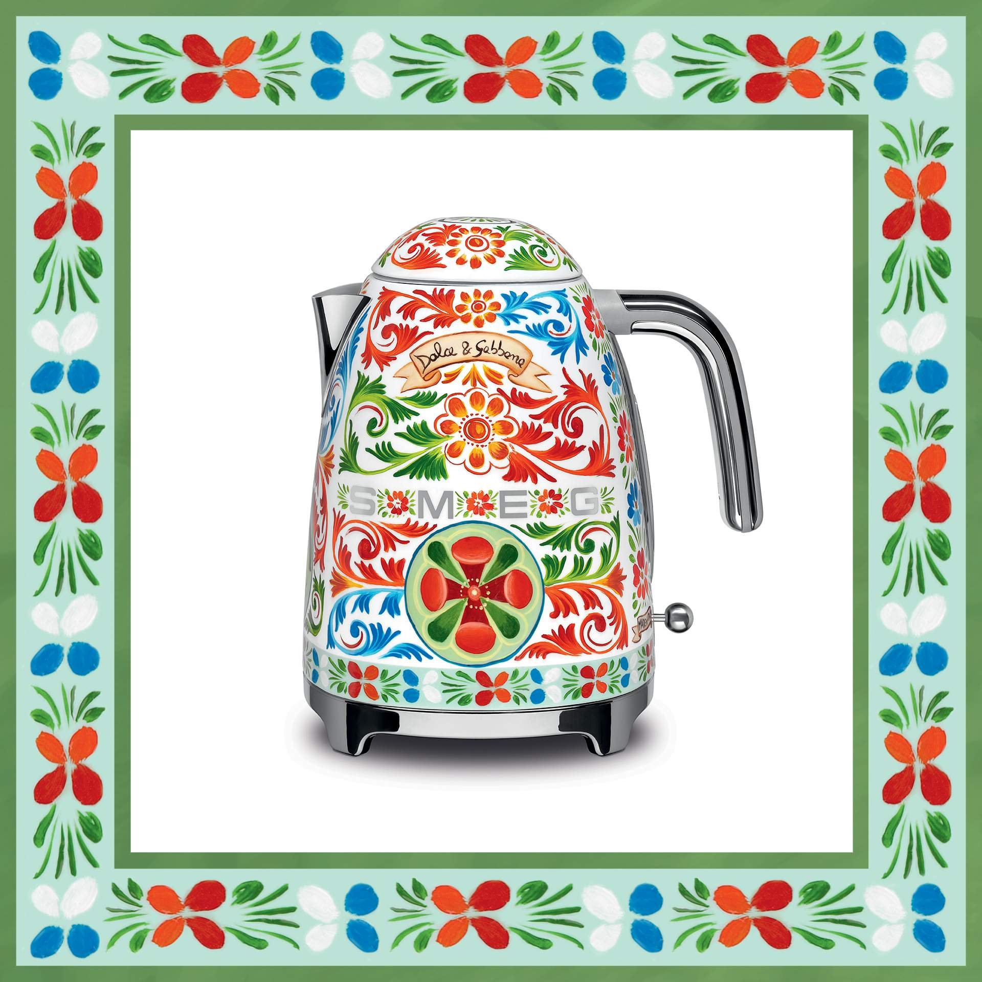 bouilloire design Smeg & Dolce&Gabbana - Sicily is my love