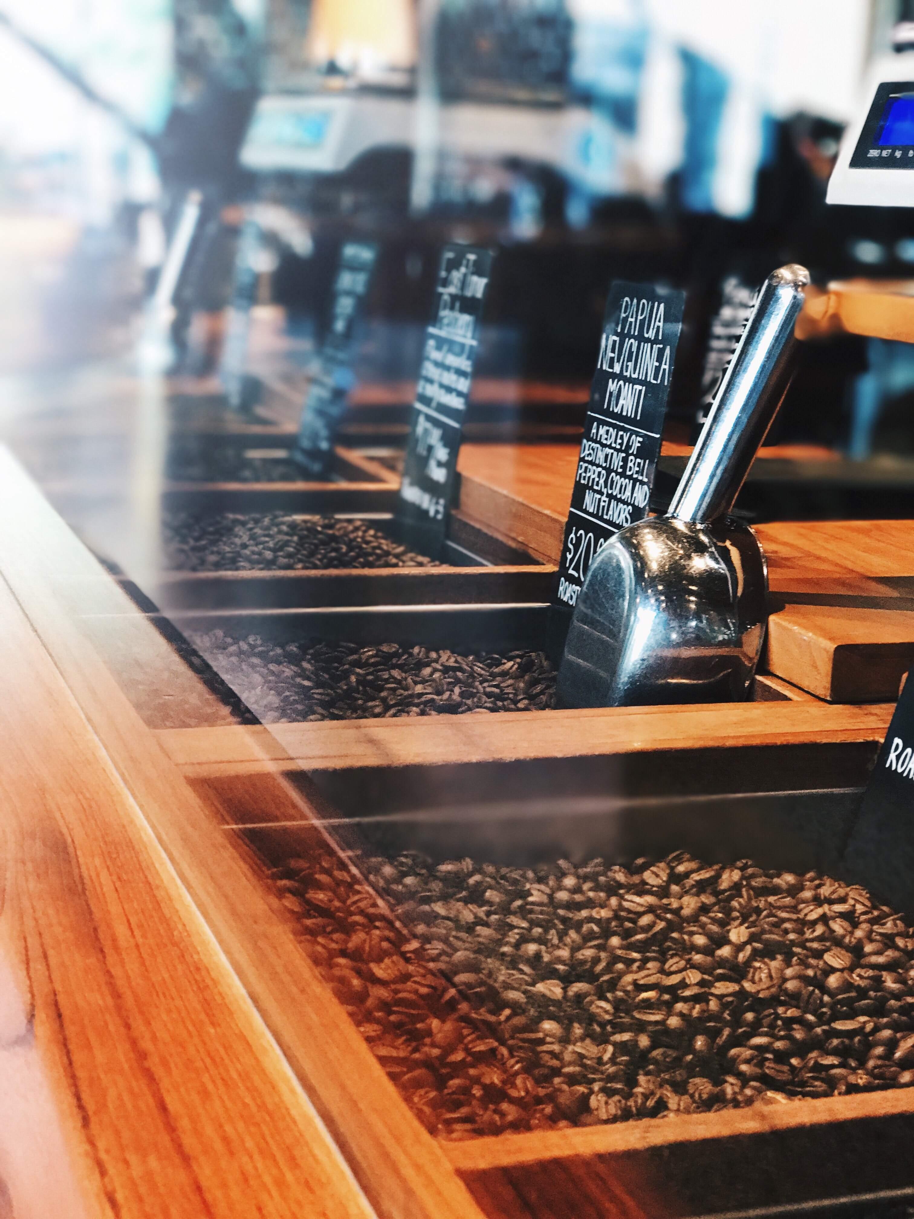 Café en grains - Café Arabica - Café Robusta