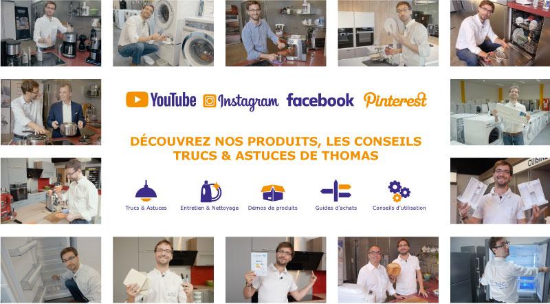 Suivez les cuisines et électroménagers DEFITEC sur tous vos réseaux sociaux
